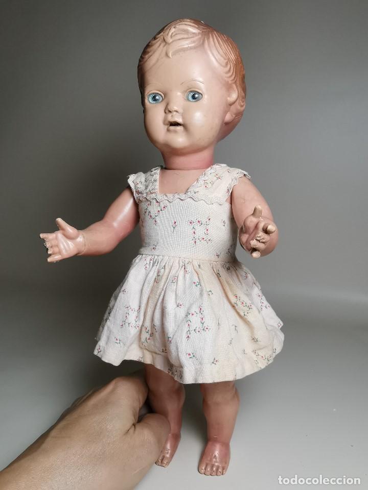 Muñecas Extranjeras: antigua muñeca de plastico años 50 marca kader made in hong kong--32 cm -muy jugada - Foto 38 - 193741127