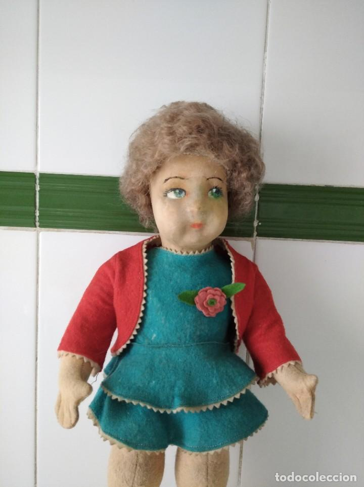 Muñecas Extranjeras: Antigua muñeca Lenci años 20 con su ropa original - Foto 2 - 194308215