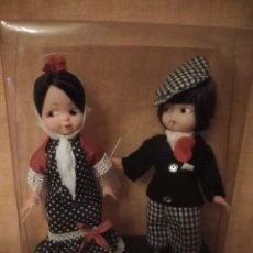 Muñecas Extranjeras: PAREJA DE MUÑECA REGIONALES CHULAPOS DE MADRID ANTIGUO.. Lote 194326520