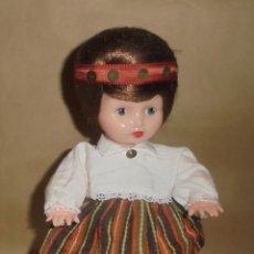 Muñecas Extranjeras: MUÑECA ALEMANA AÑOS 50 - PELO NATURAL - PLASTICO SOPLADO. Lote 194379692