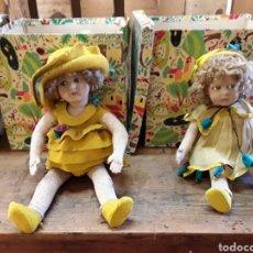Muñecas Extranjeras: LOTE DE DOS MUÑECAS LENCI, CARRITOS Y CAJAS ORIGINALES. Lote 194520271
