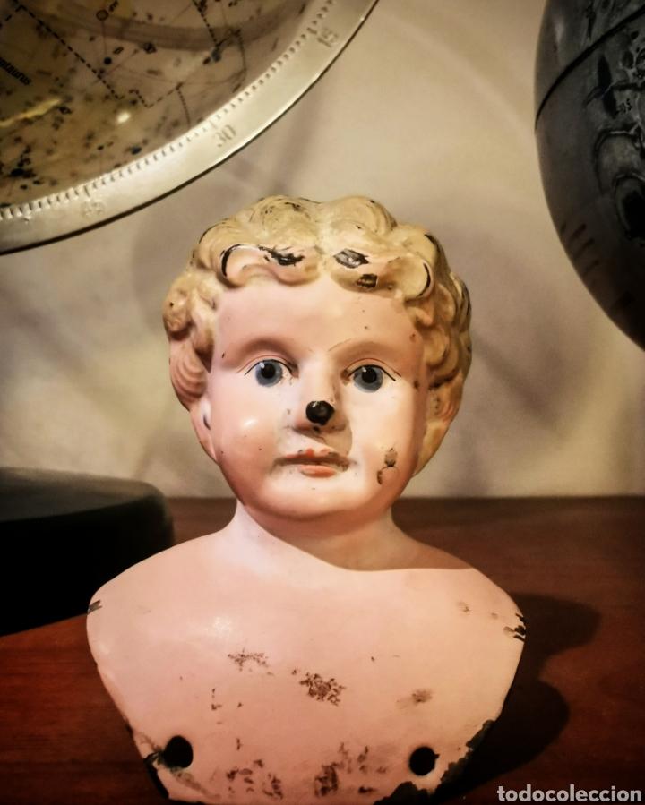 Muñecas Extranjeras: Antiguas cabezas en metal de muñecas minerva. Fabricada en Alemania - Foto 3 - 194554570