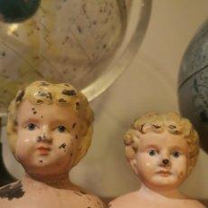 Muñecas Extranjeras: ANTIGUAS CABEZAS EN METAL DE MUÑECAS MINERVA. FABRICADA EN ALEMANIA. Lote 194554570