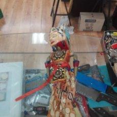 Muñecas Extranjeras: ANTIGUA MARIONETA TAILANDESAS ARTICULADAS DE VARILLAS 75X15CM. Lote 195128242