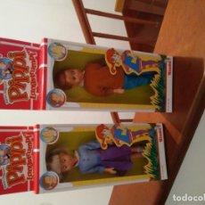 Muñecas Extranjeras: ANTIGUOS MUÑECOS DE LA SERIE PIPPI LANGSTRUMPF CALZASLARGAS. Lote 195274622