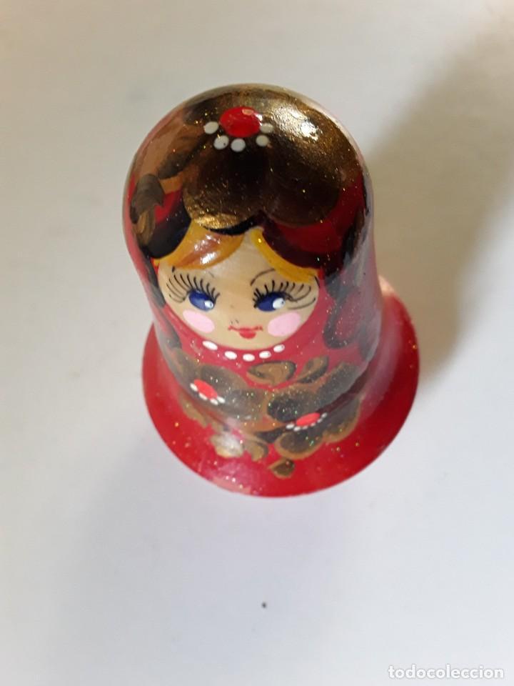 Muñecas Extranjeras: Muñeca tentetieso en madera sonajero tipo matriusca vivos colores pintada a mano posiblemente rusa - Foto 3 - 195283998