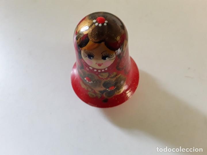 Muñecas Extranjeras: Muñeca tentetieso en madera sonajero tipo matriusca vivos colores pintada a mano posiblemente rusa - Foto 4 - 195283998