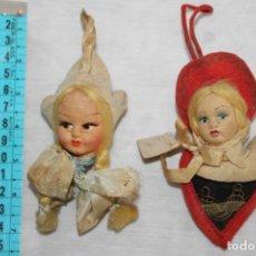 Muñecas Extranjeras: CABEZAS DECORATIVAS DE MUÑECAS MUY ANTIGUAS DE ITALIA. Lote 198371187