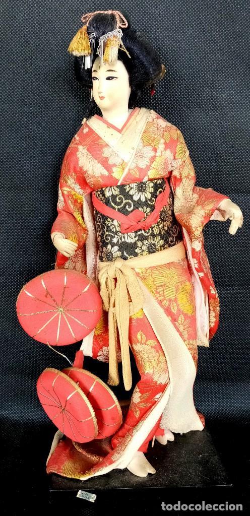 ANTIGUA MUÑECA JAPONESA GEISHA DE LOS AÑOS 70 - MIDE 40 CM ALTO (Juguetes - Muñeca Extranjera Antigua - Otras Muñecas)