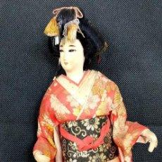 Muñecas Extranjeras: ANTIGUA MUÑECA JAPONESA GEISHA DE LOS AÑOS 70 - MIDE 40 CM ALTO. Lote 204409635
