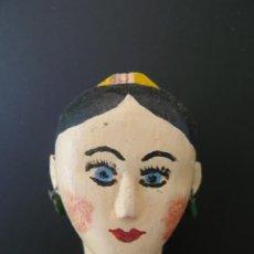 Muñecas Extranjeras: MUÑECA ORIGINAL DE MADERA CON PEINETA MOLDEADA ALREDEDOR DE 1850 PIEZA ÚNICA PARA COLECCIONISTAS. Lote 209806833