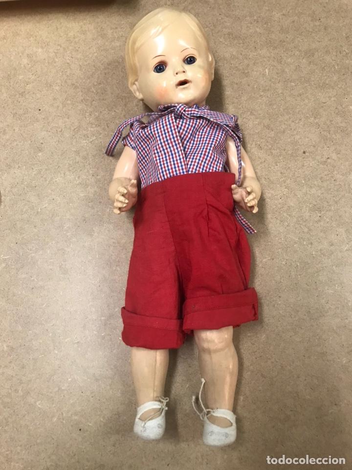Muñecas Extranjeras: Muñeco antiguo alemán marca TORTUGA n36/41 con ropa - Foto 2 - 210577080