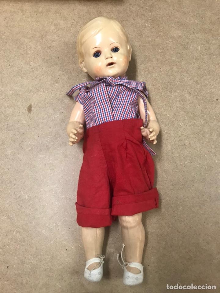 Muñecas Extranjeras: Muñeco antiguo alemán marca TORTUGA n36/41 con ropa - Foto 3 - 210577080
