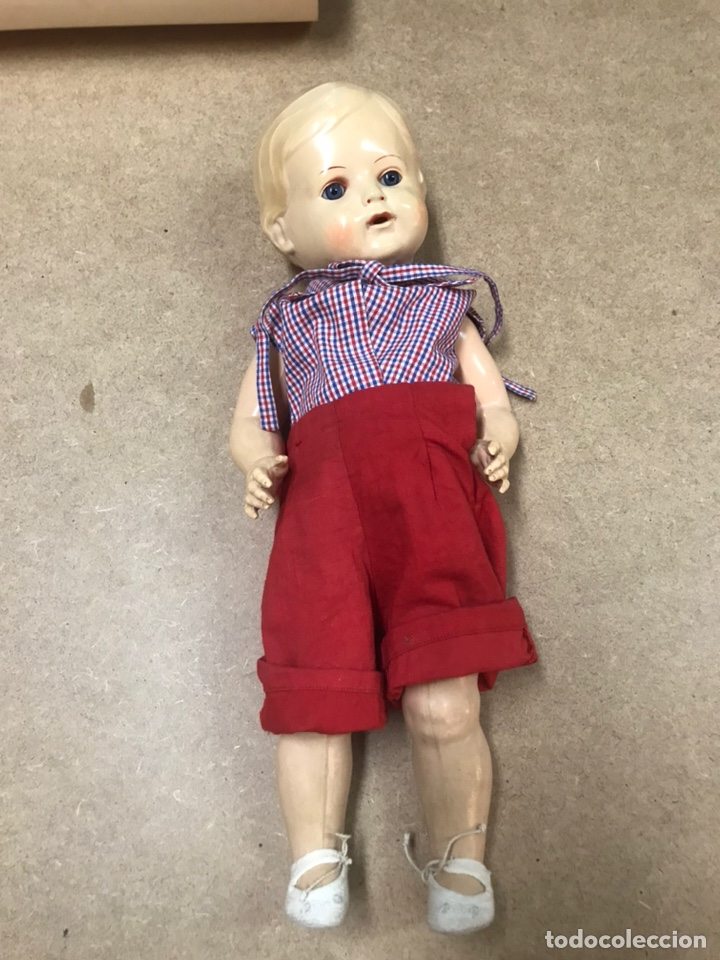 Muñecas Extranjeras: Muñeco antiguo alemán marca TORTUGA n36/41 con ropa - Foto 18 - 210577080