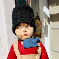 Muñecas Extranjeras: ANTIGUA MUÑECA DE FIELTRO, POSIBLEMENTE LENCI - VESTIDO ORIGINAL 60 CM. Lote 210666250