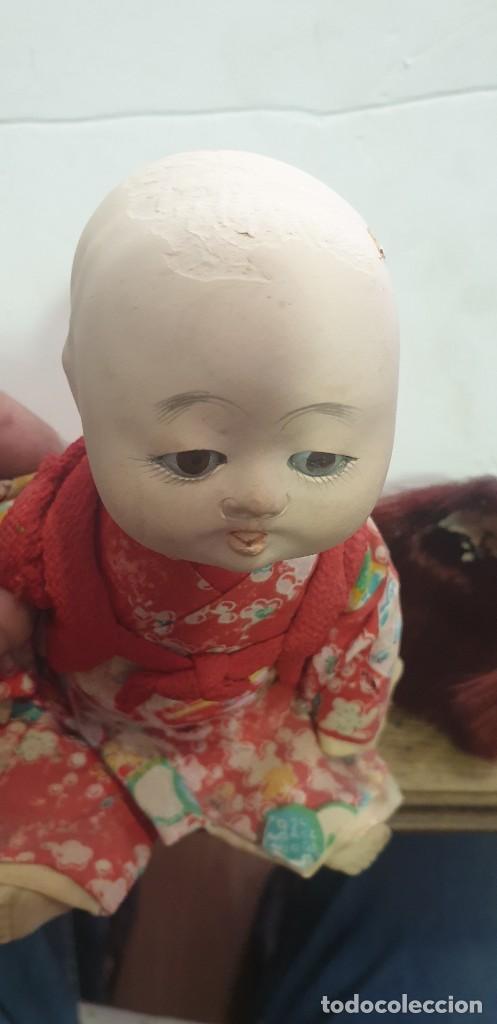 Muñecas Extranjeras: Muñeca antigua China cabeza de porcelana y cuerpo de plastico ojos de cristal - Foto 3 - 210837584