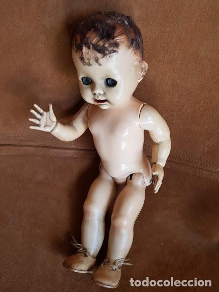 Muñecas Extranjeras: Muñeca inglesa ojos móviles, articulada. 2 dientes - Años 40-45 Completa - Foto 5 - 211926792
