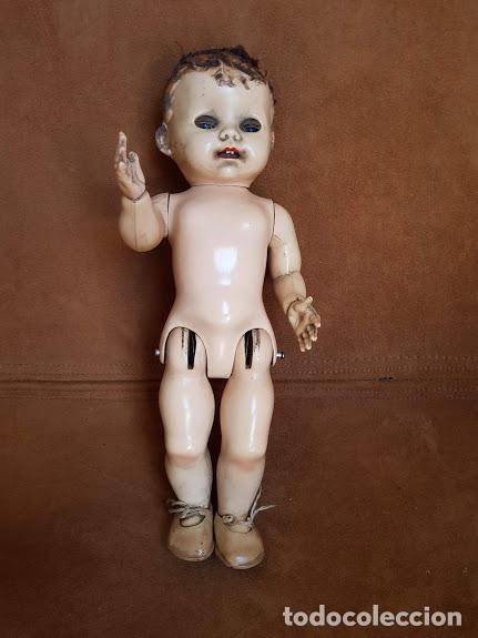 Muñecas Extranjeras: Muñeca inglesa ojos móviles, articulada. 2 dientes - Años 40-45 Completa - Foto 8 - 211926792