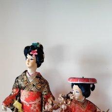 Muñecas Extranjeras: MUÑECAS JAPONESAS GEISHAS AÑOS 50. Lote 218776086