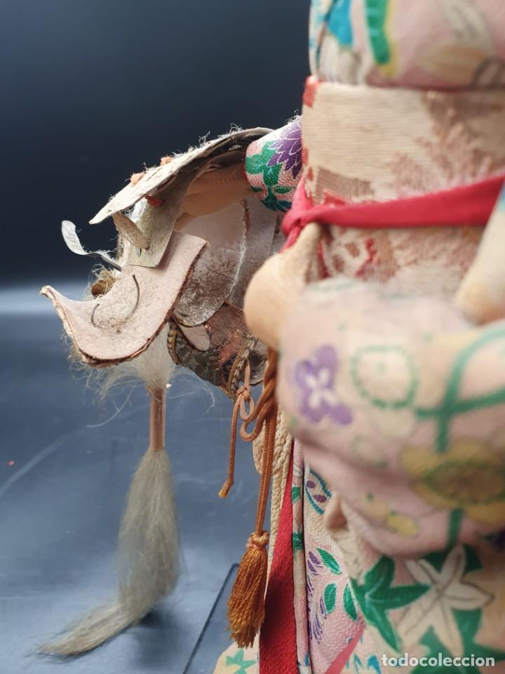 Muñecas Extranjeras: muñeca antigua geisha pintada a mano y con pelo natural de los años 70 - Foto 2 - 221815450