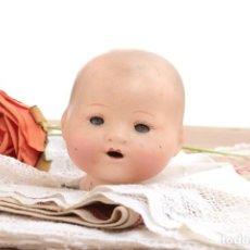 Muñecas Extranjeras: ANTIGUA CABEZA DE MUÑECA EN PASTA DE PAPEL. Lote 223363518