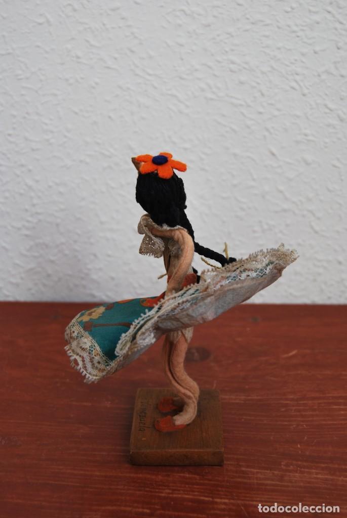 Muñecas Extranjeras: MUÑECA DE TELA, FIELTRO Y ALAMBRE - VENEZUELA - BAILARINA- AÑOS 50-60 - Foto 9 - 225233795