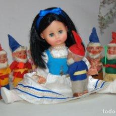 Muñecas Extranjeras: BLANCANIEVES Y LOS SIETE ENANITOS ALEMÁN AÑOS 60. Lote 233594580