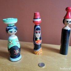 Muñecas Extranjeras: MUÑECAS DE MADERA NUBIAS - EGIPTO. Lote 238483220