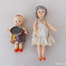 Bambole Internazionali: PAREJA DE MUÑECAS DE GOMA, JAPAN AÑOS 50. Lote 242116235
