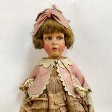 Muñecas Extranjeras: ANTIGUA MUÑECA DE FIELTRO ITALIANA LENCI AÑOS 20 TRAJE VESTIDO ZAPATOS ORIGINALES. Lote 245123215