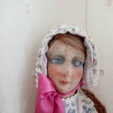 Muñecas Extranjeras: MUÑECA ANTIGUA DE TRAPO TIPO BUDOIRE. Lote 247316650