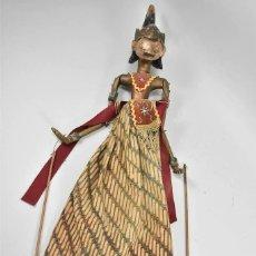 Muñecas Extranjeras: ANTIGUA S. XIX RARA Y MAGNIFICA MARIONETA BIRMANIA 85 CM ALTURA. Lote 251098290