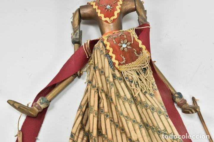 Muñecas Extranjeras: ANTIGUA S. XIX RARA Y MAGNIFICA MARIONETA BIRMANIA 85 cm altura - Foto 4 - 251098290