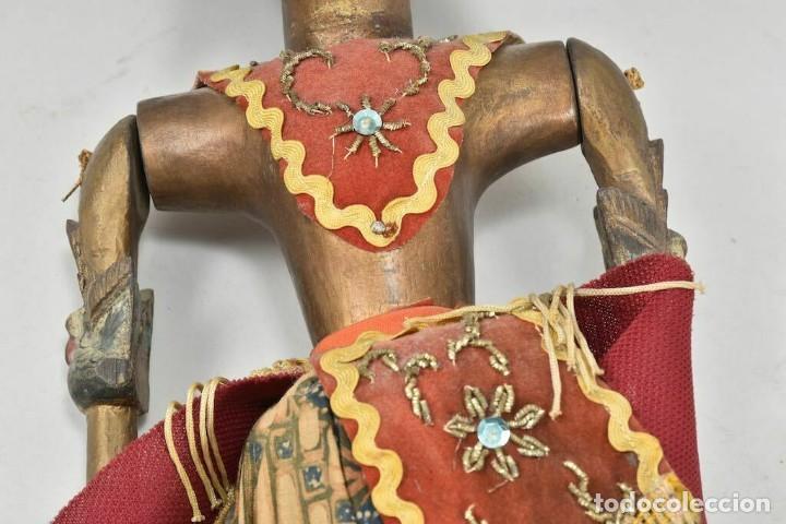 Muñecas Extranjeras: ANTIGUA S. XIX RARA Y MAGNIFICA MARIONETA BIRMANIA 85 cm altura - Foto 10 - 251098290