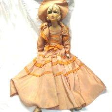 Muñecas Extranjeras: MUÑECA BOUDOIR TIPO LENCY TRAPO TELA, EXTREMIDADES BISCUIT. MED. 70 CM. Lote 251268810