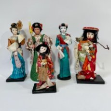 Muñecas Extranjeras: LOTE DE 5 MUÑECAS ASIÁTICAS ASIA CHINA JAPÓN GEISHA. Lote 256045305