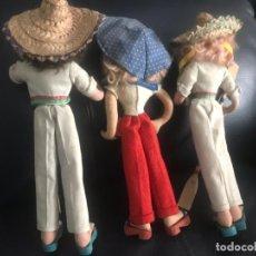 Muñecas Extranjeras: LOTE DE TRES MUÑECAS ANTIGÜAS. Lote 262651300