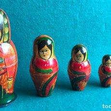 Muñecas Extranjeras: MUÑECA MÚLTIPLE TIPO MATRIOSKA. 6 PIEZAS. MUJER INDIA. Lote 263247735