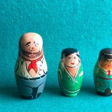 Muñecas Extranjeras: MUÑECAS TIPO MATRIOSKA. 6 PIEZAS. GUARDIA CIVIL, TORERO Y FAMILIA GITANA. Lote 263248410