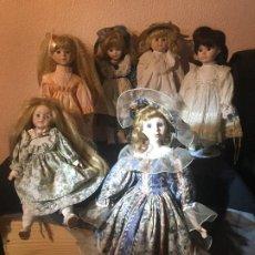 Muñecas Extranjeras: LOTE DE MUÑECAS DE GRAN TAMAÑO ( CERAMICA Y TRAPO ). Lote 273985103