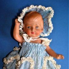 Bambole Internazionali: MUÑECA ANTIGUA ,MARCA TORTUGA.CELULOIDE.. Lote 274906893