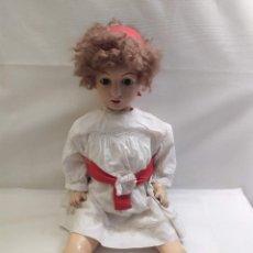 Muñecas Extranjeras: MUÑECA DE CERAMICA. CUERPO DE PAPEL MACHE. 9 MB. 70CM. Lote 275237638
