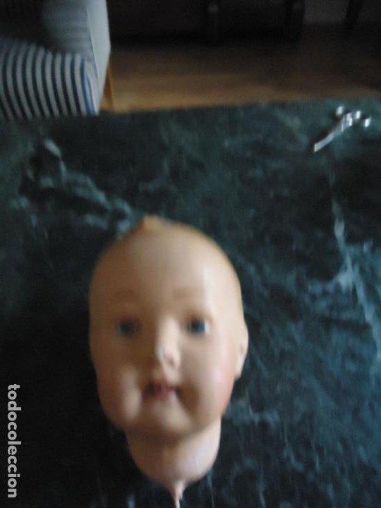 Muñecas Extranjeras: Cabeza de muñeco de composicion. 14X14 x 9 de ancho. Primera mitad siglo XX - Foto 2 - 285646803
