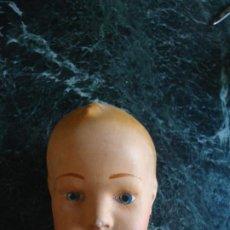 Muñecas Extranjeras: CABEZA DE MUÑECO DE COMPOSICION. 14X14 X 9 DE ANCHO. PRIMERA MITAD SIGLO XX. Lote 285646803