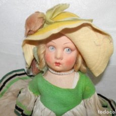 Muñecas Extranjeras: ANTIGUA MUÑECA DE FIELTRO, LENCI, PAGES O SIMILAR, 38 CM. Lote 287727583