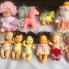 Muñecas Lesly y Barriguitas: LOTE DE 7 MUÑECAS BARRIGUITAS , 2 PONY BARRIGUITAS FAMOSA Y DOS MUÑECAS. Lote 93047210