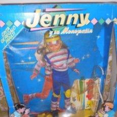 Muñecas Lesly y Barriguitas: MUÑECA JENNY Y SU MONOPATIN DE LOS AÑOS 80 NUEVA EN CAJA AÑOS 80. Lote 96221087