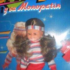 Muñecas Lesly y Barriguitas: MUÑECA JENNY Y SU MONOPATIN DE B.B NUEVA EN CAJA AÑOS 80. Lote 96221199