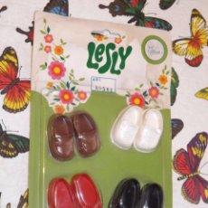 Muñecas Lesly y Barriguitas: LESLY: BLÍSTER DE ZAPATOS ORIGINAL.. Lote 98550899