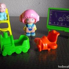 Muñecas Lesly y Barriguitas: PIN Y PON DE FAMOSA. ESCUELA INFANTIL. AÑOS 80.. Lote 102358691